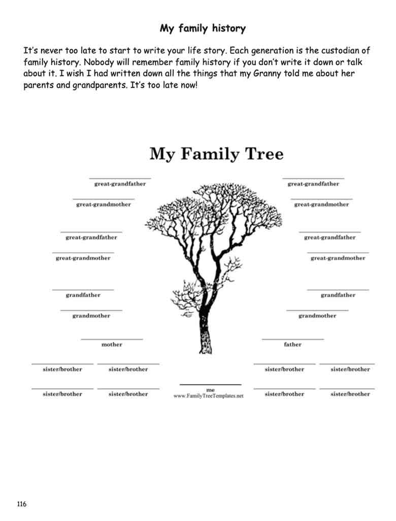 My Family Tree • Be Prepared